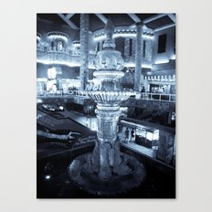 Twilight Fountain Canvas Print