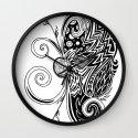 Spirit of Spring B&W Wall Clock