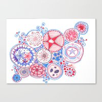 Let's Hear It for the Red, White, and Blue! Canvas Print