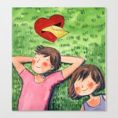 The Love Letter Canvas Print