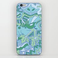Abstract Animals - Blue … iPhone & iPod Skin