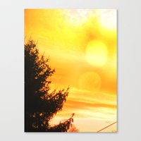 Lemon Sky Canvas Print