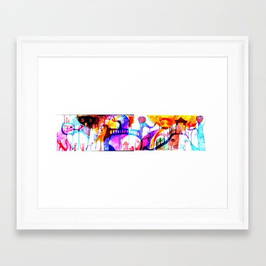 trip down bizarre lane Framed Art Print