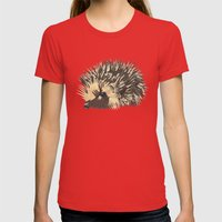Little Hedgehog Womens Fitted Tee Red SMALL