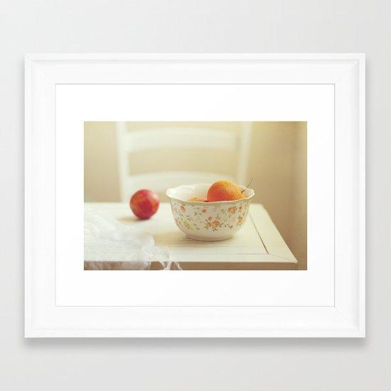 Tasty afternoon Framed Art Print