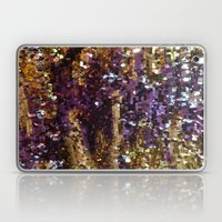 PURPLE AND GOLD Laptop & iPad Skin
