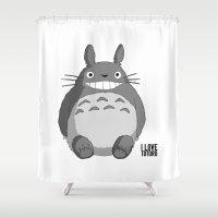 I Love Totoro Shower Curtain