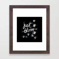 Just Bloom Framed Art Print