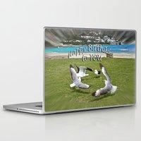happy birthday Laptop & iPad Skins featuring Happy Birthday by CrismanArt
