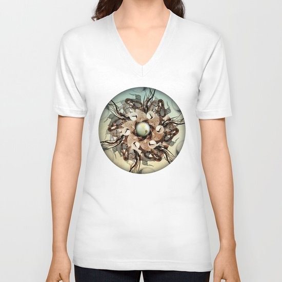 viper in the mix V-neck T-shirt