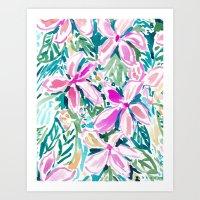 PLUMERIA PARADISE Art Print