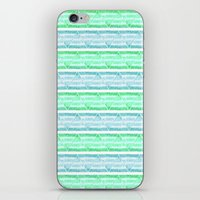 blue&green stripes iPhone & iPod Skin
