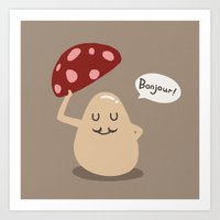 a gentle mushroom Art Print