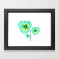 Blue dream. Floral theme. Framed Art Print