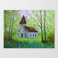 Abandoned  Country Churc… Canvas Print