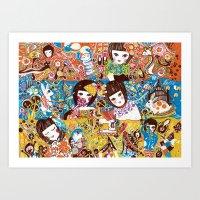 Colorful days Art Print