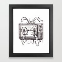 Something on? Framed Art Print