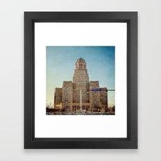 Down Town City Hall Buffalo NY  Color Framed Art Print