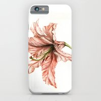 Pink Lily Flower Watercolor iPhone 6 Slim Case