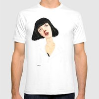 Mrs Mia Wallace Mens Fitted Tee White SMALL