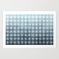 Ocean - Textured Pattern Art Print