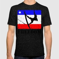FREEDOM! Surfing Mens Fitted Tee Tri-Black SMALL