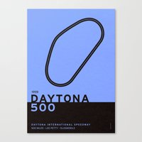 Legendary Races - 1959 Daytona 500 Canvas Print