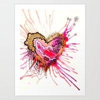 Golden Love Art Print