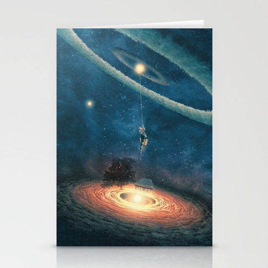 My dream house is in another galaxy Stationery Card
