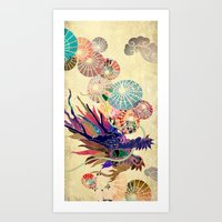 Chinese Lunar New Year and 12 animals  ❤  The DRAGON 龍 Art Print