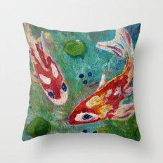 Koi Pond 2 Throw Pillow