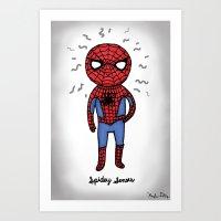 Super Cute Heroes: Spide… Art Print