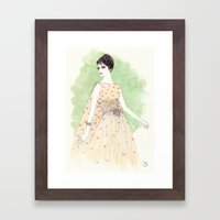 'Chloe' Watercolor Fashi… Framed Art Print