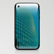 Teal Blue Abstract iPhone & iPod Skin