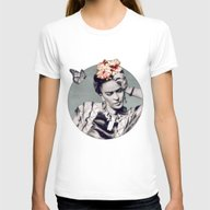 Frida Womens Fitted Tee White MEDIUM