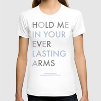 Vampire Weekend - HOLD ME IN YOUR EVERLASTING ARMS Womens Fitted Tee White SMALL