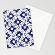 Watercolor Shibori Blue Stationery Cards