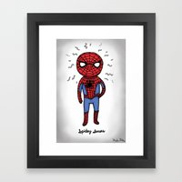 Super Cute Heroes: Spidey Senses Framed Art Print