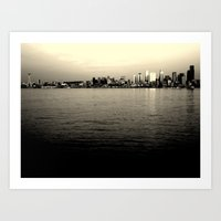 Alki Beach - Seattle, WA Art Print