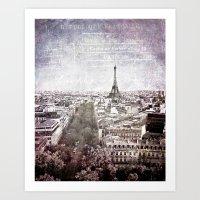 La Tour Eiffel {liberté Art Print