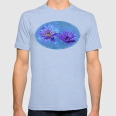 No Mud, No Lotus Mens Fitted Tee Tri-Blue SMALL