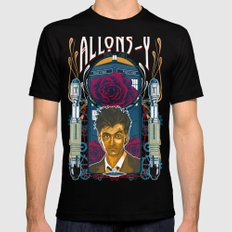 Doctor Who, David Tennant Allons-Y 10th Doctor Mens Fitted Tee Black SMALL