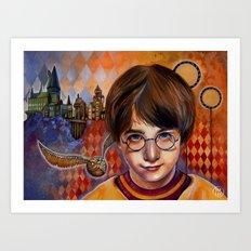 Harry's First Quidditch Match Art Print