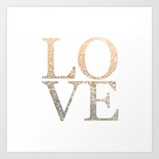 GOLD LOVE Art Print
