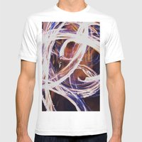 Fire Poi Mens Fitted Tee White SMALL