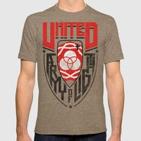 UNITED SHIELD Mens Fitted Tee Tri-Coffee SMALL