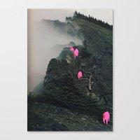 Lava Mountain Goats Canvas Print