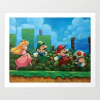 Super Mario Bros 2 Art Print