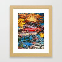 SCRAPP TO THE END Framed Art Print