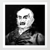06. Zombie John Quincy Adams  Art Print